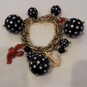 J Crew nautical polka dotted bracelet.